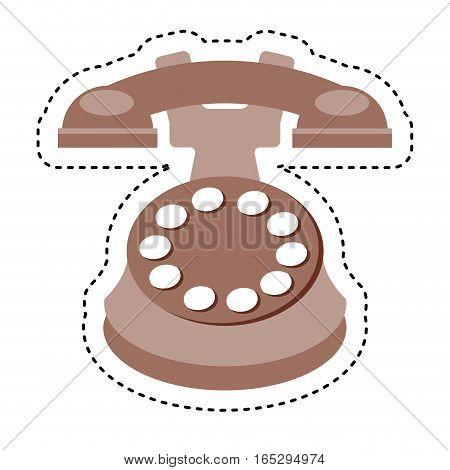 retro telephone isolated icon vector illustration design