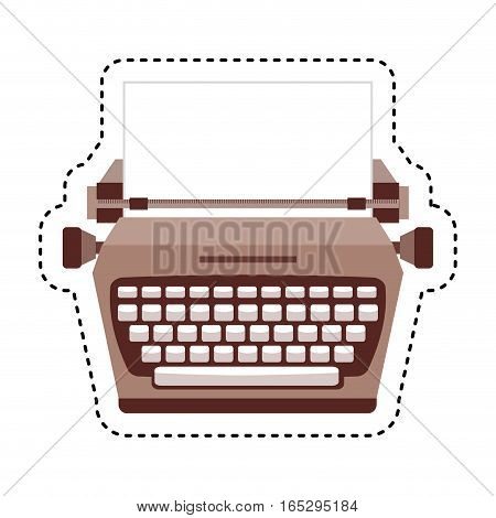 typewrite retro isolated icon vector illustration design