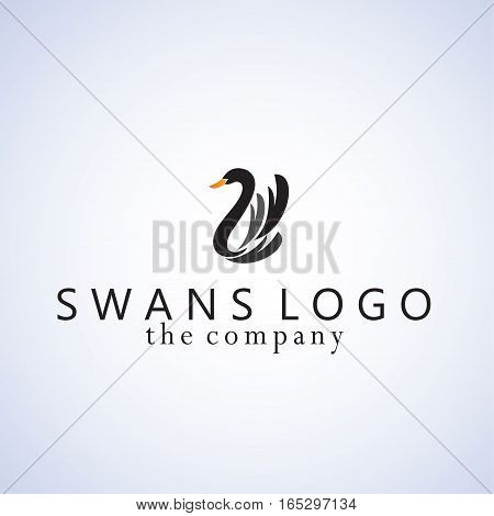 swans ideas design vector illustration on background