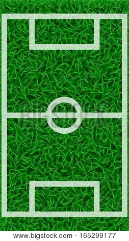 illustration of green grass football field with white color lines