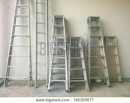 The steel staircase for use in factories