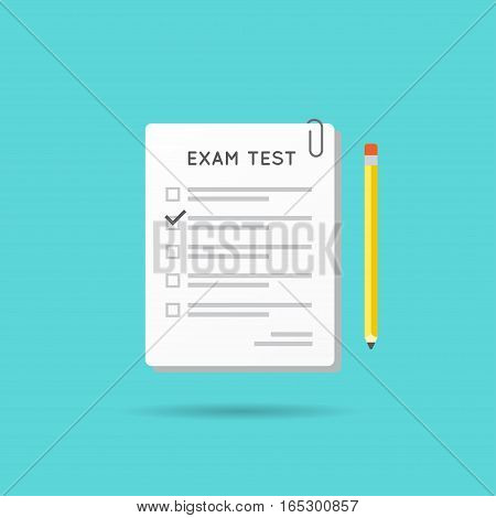 Vector Test or Exam Icon. Can be used as Logo.