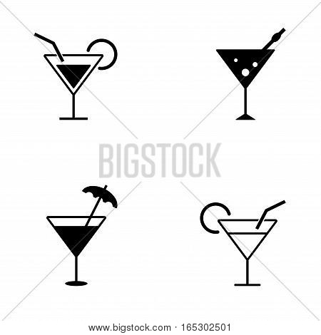 several style of cocktail icons,vector Illustration EPS10