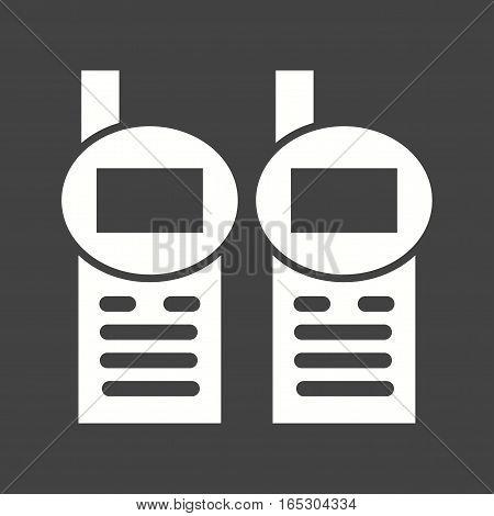 Walkie, talkie, radio icon vector image.