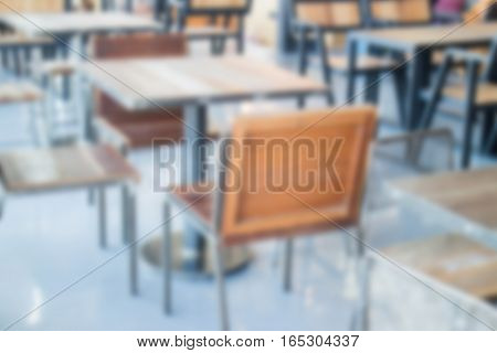 Coffee shop furniture in industrial style stock photo