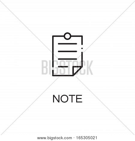 Note icon. Single high quality outline symbol for web design or mobile app. Thin line sign for design logo. Black outline pictogram on white background