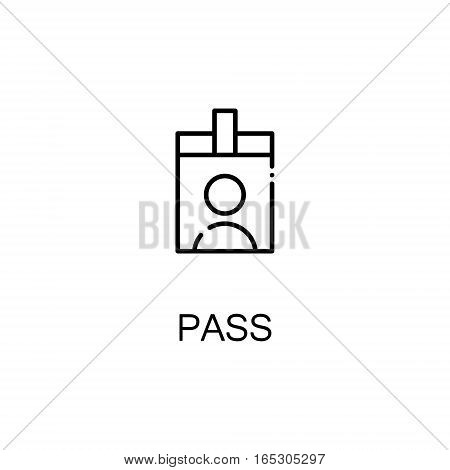 Pass icon. Single high quality outline symbol for web design or mobile app. Thin line sign for design logo. Black outline pictogram on white background