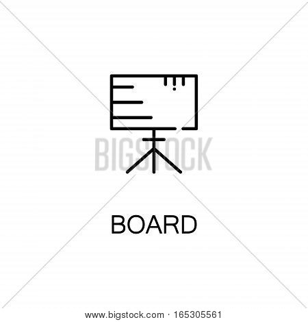Board icon. Single high quality outline symbol for web design or mobile app. Thin line sign for design logo. Black outline pictogram on white background