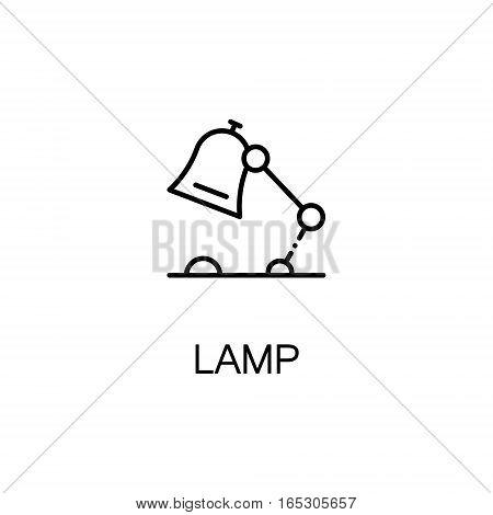 Lamp icon. Single high quality outline symbol for web design or mobile app. Thin line sign for design logo. Black outline pictogram on white background