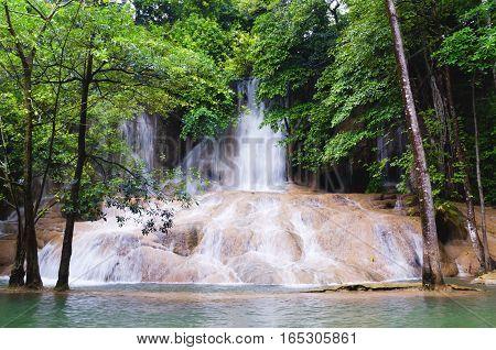 Sai Yok Noi Waterfall in kanjanaburi thailand