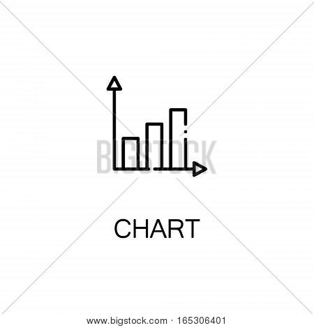 Chart icon. Single high quality outline symbol for web design or mobile app. Thin line sign for design logo. Black outline pictogram on white background