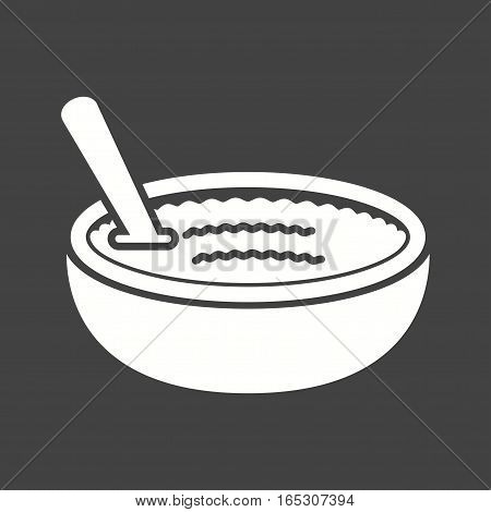 Cuisine, rice, pudding icon vector image. Can also be used for european cuisine