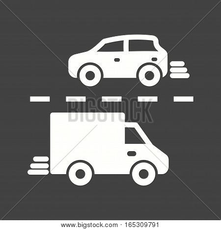 Traffic, city, rush icon vector image. Can also be used for town.