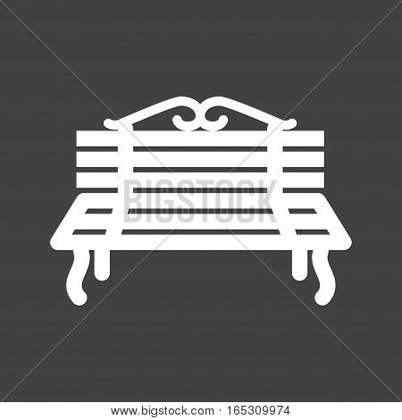 Peoples bench, park icon vector image. Can also be used for town.