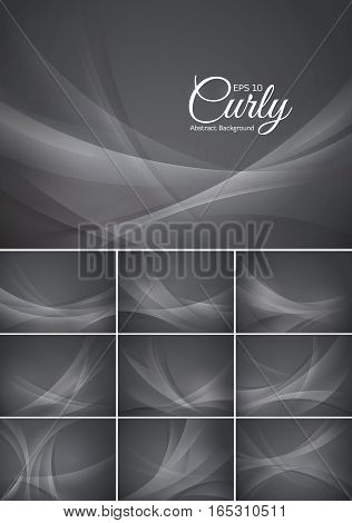 Curly abstract background vector series. Suitable for design element and background
