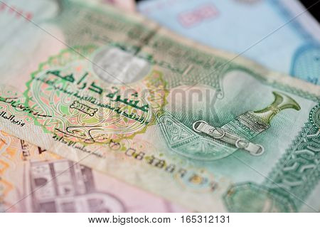 Ten Dirhams Of The United Arab Emirates Close Up
