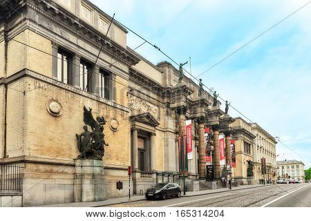 Brussels, Belgium - July 07, 2016 : Royal Museum Of Fine Arts, Brussels, Belgium.
