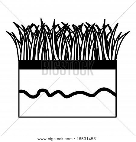 ground and grass icon vector illustration design