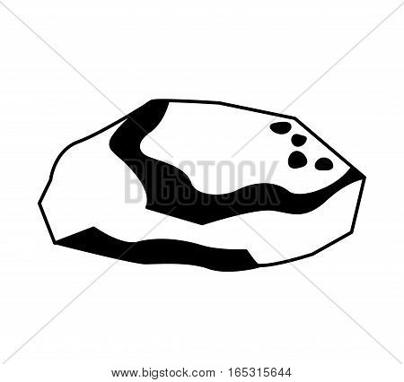 charcoal mineral resource icon vector illustration design