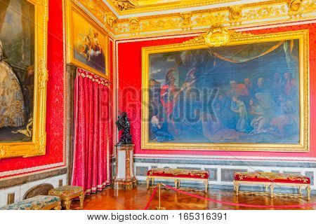 Versailles, France - July 02, 2016 : King's Grand Apartment(salon De Mars.mars- Roman God Of War)on