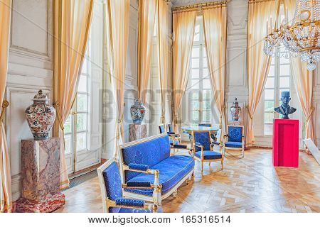 Versailles, France - July 02, 2016 : Grand Empress Cabinet In The Grand Trianon. Chateau De Versaill