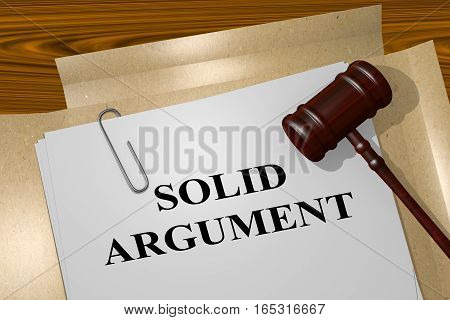 Solid Argument - Legal Concept