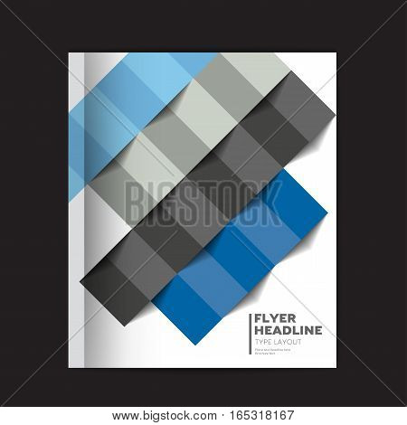 Brochure, annual report, Flyer, Leaflet,  Presentation cover. Text template layout. Vector.