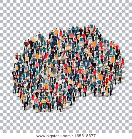 Isometric set of styles, people, map of Macedonia , country, web infographics concept of crowded space, flat 3d. Crowd point group forming a predetermined shape. Creative people. Vector illustration. Photo vector.3D illustration. Transparent background .