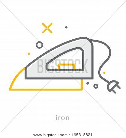 Thin line icons, Linear symbols, Iron icon