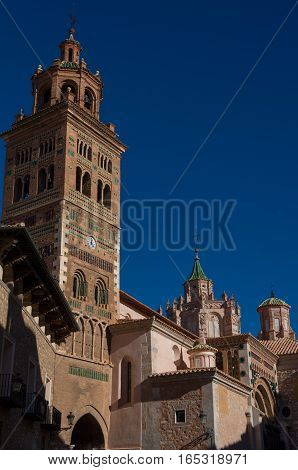 Mudejar Cathedral Of Santa Maria De Mediavilla (13Th Century), Teruel. Aragon, Spain