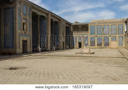 Khiva, Uzbekistan -May 1, 2015: The harem courtyard s in Tosh Hovl Palace