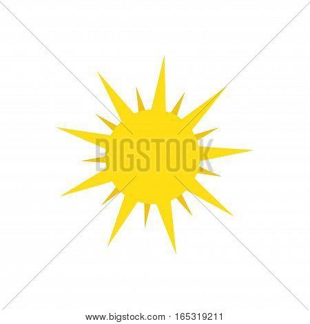 yellow Sun icon. Stock vector symbol illustration
