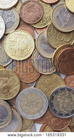 Euro Coins - Vertical