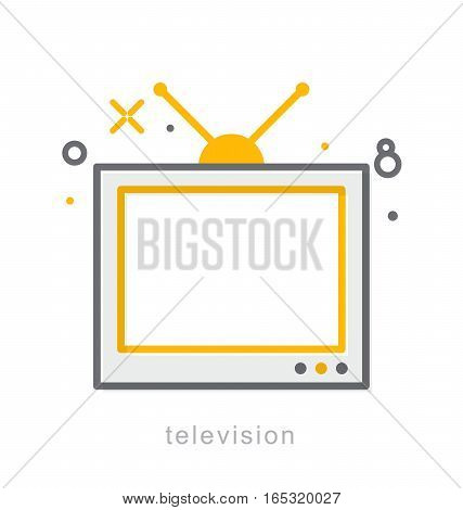 Thin line icons, Linear symbols, Television icon