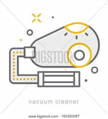 Thin line icons, Linear symbols, vacuum cleaner
