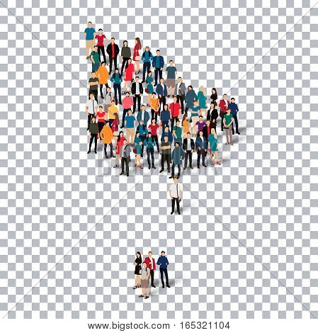 Isometric set of styles, people, map of Norfolk Island, country, web infographics concept of crowded space, flat 3d. Crowd point group forming a predetermined shape. Creative people. Vector illustration. Photo vector.3D illustration. Transparent backgroun