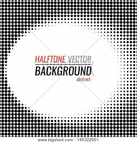 black and white halftone background. Stock vector illustration