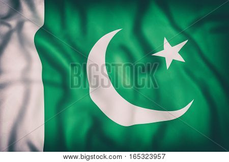Islamic Republic Of Pakistan Flag Waving