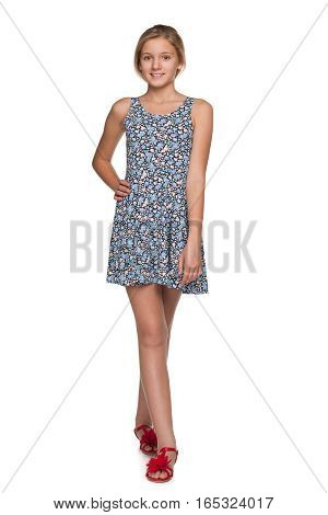 Fashion Smiling Teen Girl
