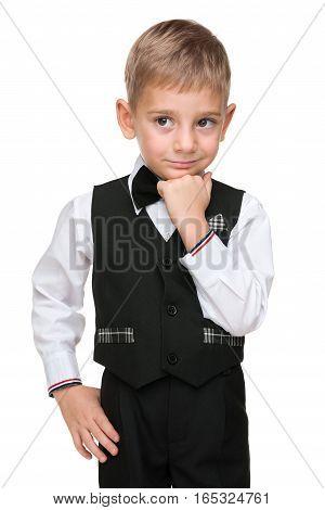 Clever Preschool Boy