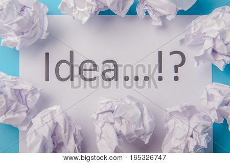 Idea Word Written On Paper