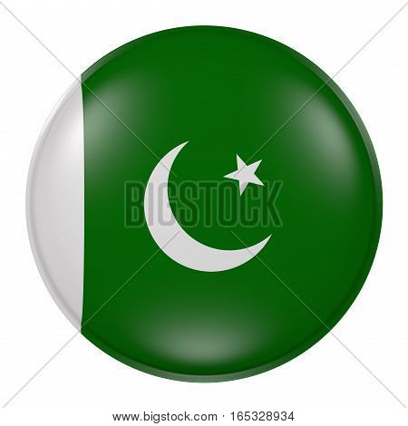 Silhouette Of Pakistan Button