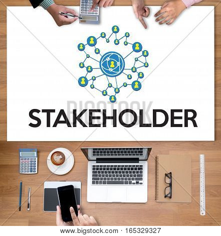 Stakeholder ,  Engagement Concept  ,  Strategy Mind Map, Business  , Partner Deal   Contributor  , B