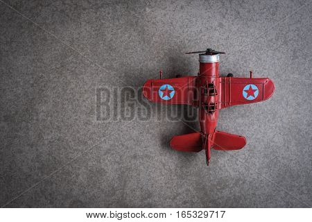 old vintage style toy airplanes made from metal