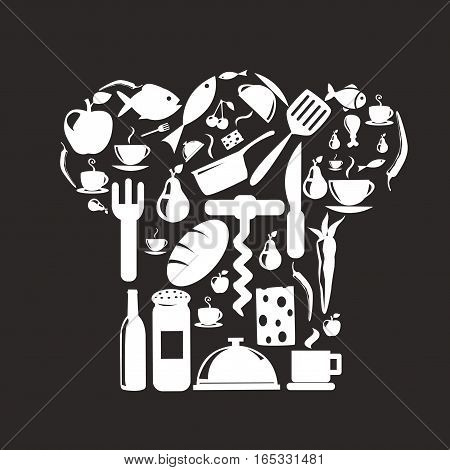 Food and Kitchen Icons Set illustration art