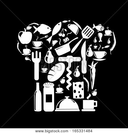 Food and Kitchen Icons Set vector illustration