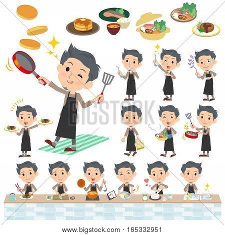Gray Wear Man Cooking