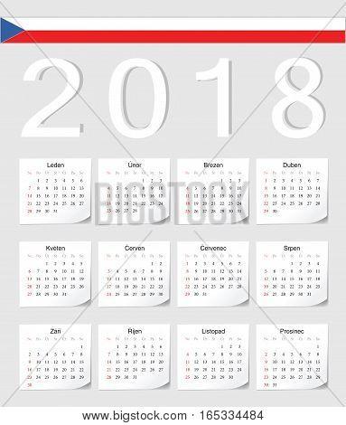 Czech 2018 Calendar