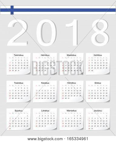 Finnish 2018 Calendar
