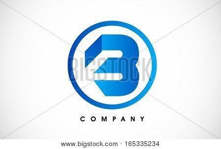 B Logo.B Letter Outline Design Vector Illustration in Green Colors.